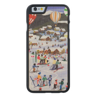 Ballooning over the piste 1995 carved maple iPhone 6 case