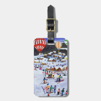 Ballooning over the piste 1995 luggage tag