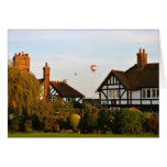 Ballooning Over Wingrave Greeting Card