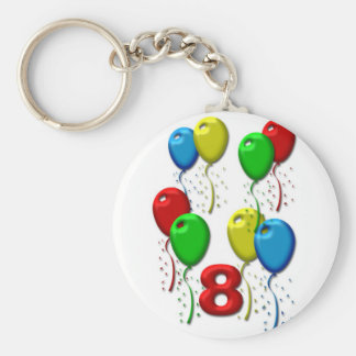 balloons 08 years basic round button key ring