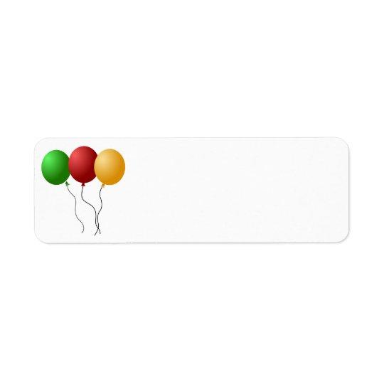 balloons-305058  balloons party decoration three g return address label