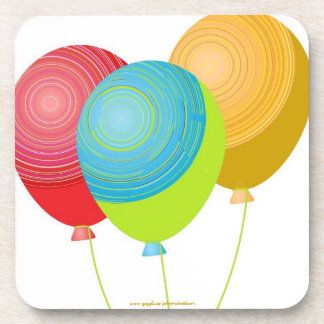 BALLOONS 3 BEVERAGE COASTERS