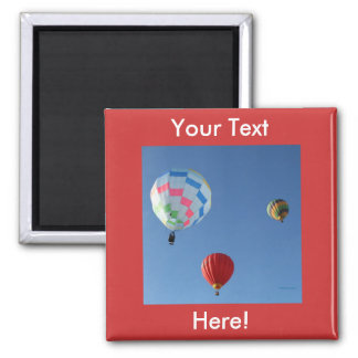 Balloons 3 square magnet