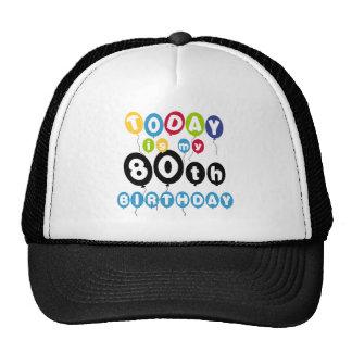 Balloons 80th Birthday Cap