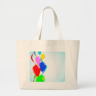 Balloons and Confetti Party Large Tote Bag