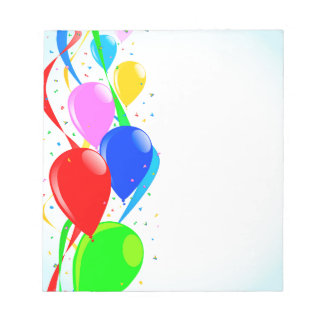 Balloons and Confetti Party Notepad
