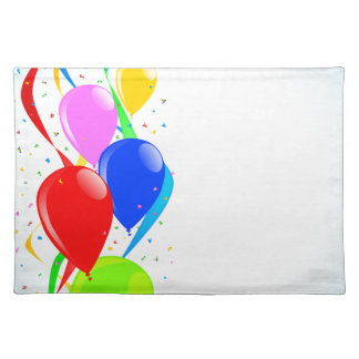 Balloons and Confetti Party Placemat
