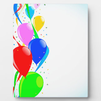 Balloons and Confetti Party Plaques
