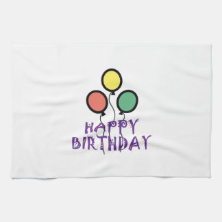 BALLOONS APPLIQUE HAPPY NEW YEAR HAND TOWEL