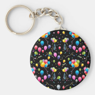 Balloons Basic Round Button Key Ring