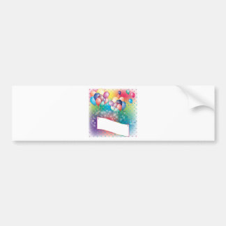 Balloons Birthday Party Invitation Cards Bumper Stickers