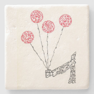BALLOONS, by MINIFACES Stone Beverage Coaster