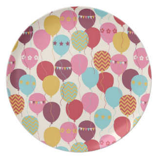 Balloons Celebration/ Chevron/ Bunting/ Plate