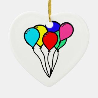 Balloons Ceramic Heart Decoration