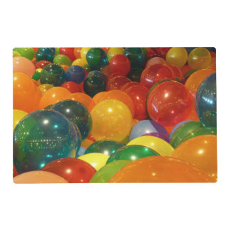 Balloons Colorful Party Design Laminated Place Mat