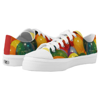 Balloons Colorful Party Design Low Tops
