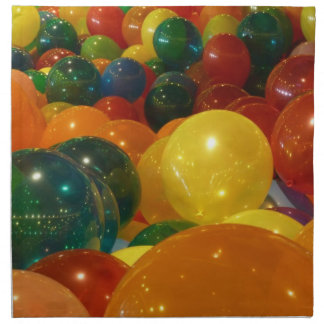 Balloons Colorful Party Design Napkin