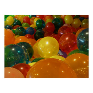 Balloons Colorful Party Design Poster