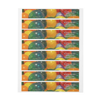 Balloons Colorful Party Design Wrap Around Label