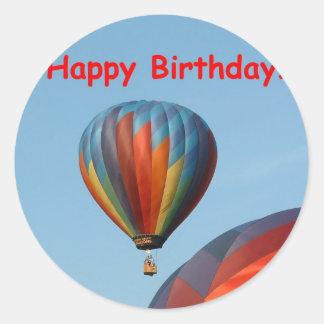 Balloons, Happy Birthday, 2 generic Round Sticker