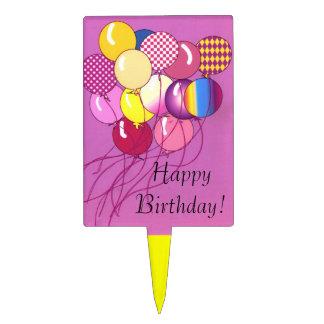 Balloons Happy Birthday Cake Pick