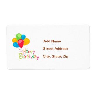 Balloons Happy Birthday Shipping Label