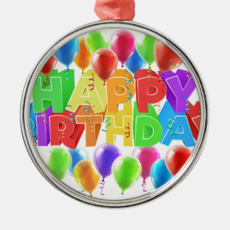 Balloons Happy Birthday Sign Christmas Ornament