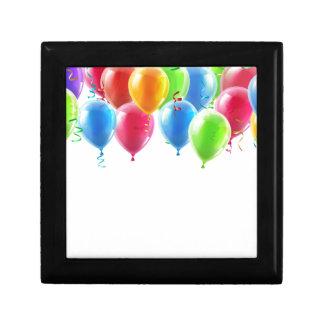 Balloons header background trinket box