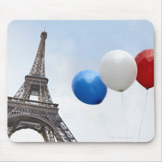 Balloons in the colors of the French flag in Mouse Pad