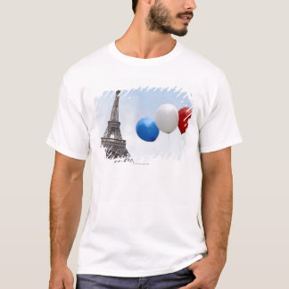 Balloons in the colors of the French flag in T-Shirt