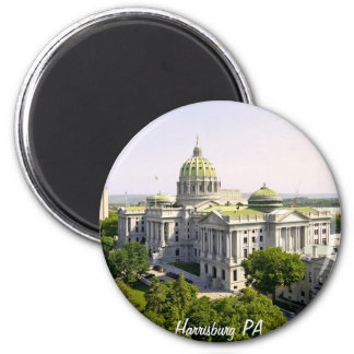 Balloons over Harrisburg PA 6 Cm Round Magnet