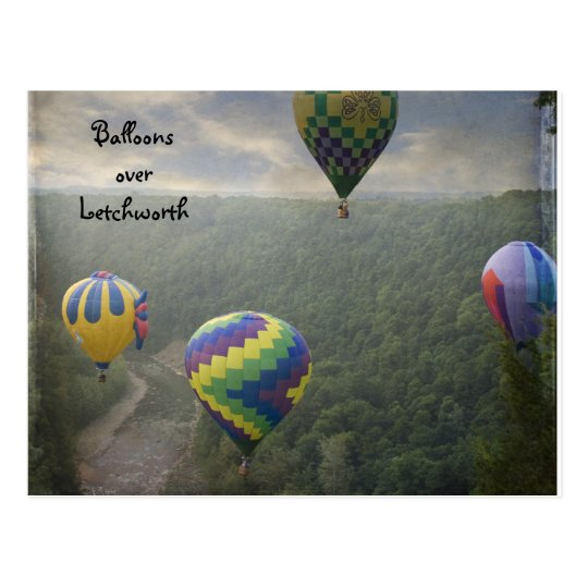 Balloons over Letchworth Post Card
