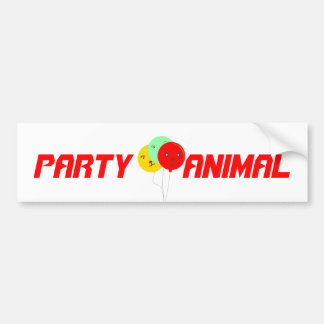 Balloons Party Animal  faces cards Bumper Sticker