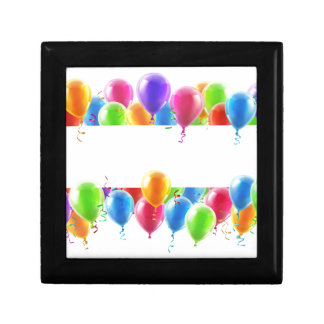 Balloons Party Banner Small Square Gift Box