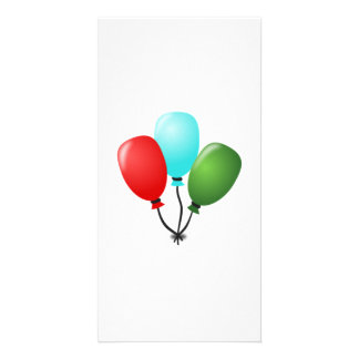 Balloons Personalized Photo Card