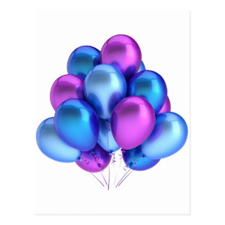 Balloons Post Card