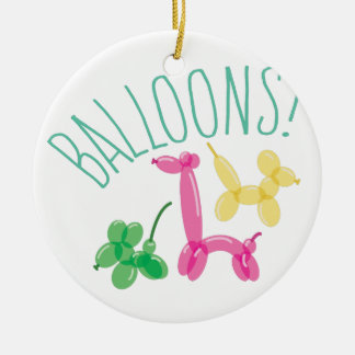 Balloons! Round Ceramic Decoration