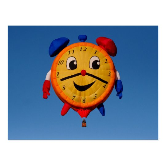 Balloons Shape Clock  6268 Postcard