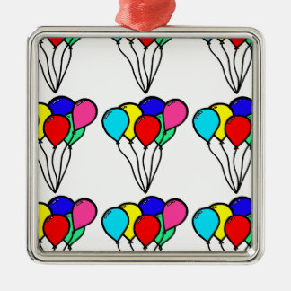 Balloons Silver-Colored Square Decoration