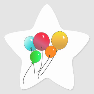 Balloons Star Sticker