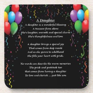 Balloons & Streamers - Daughter Poem Coaster
