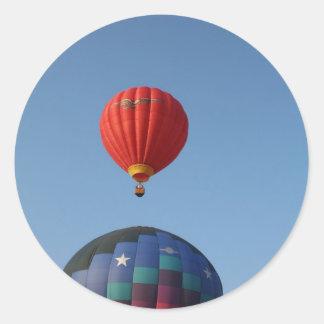 Balloons, Sun, Moon, and Stars! Round Sticker