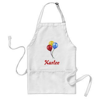 Balloons with name standard apron