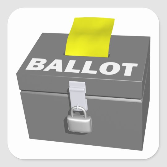 Ballot Box Square Sticker