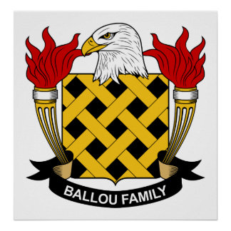Ballou Family Crest Print