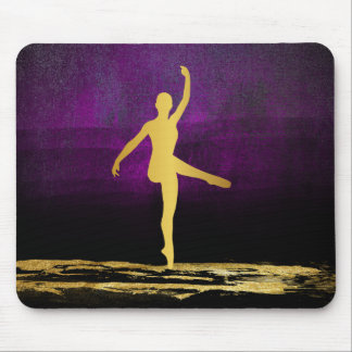 Ballroom Classic Ballet Dancer Modern Glam Purple Mouse Pad
