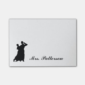 """""""Ballroom Couple"""" Personalized Post-its Post-it Notes"""