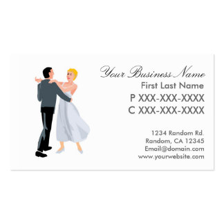Ballroom dance couple business cards