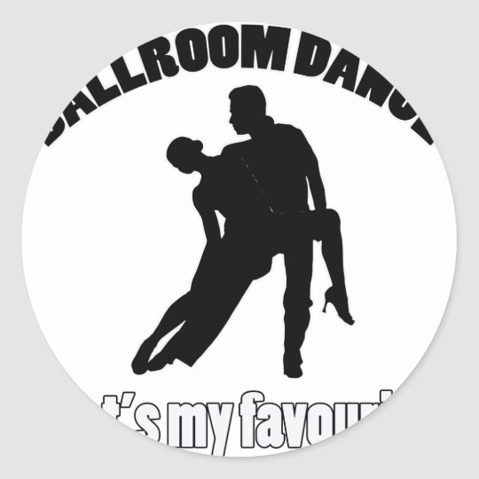 ballroom dance designs classic round sticker