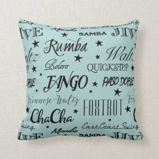 Ballroom Dance Repeat Pattern | Choose Your Color Cushion
